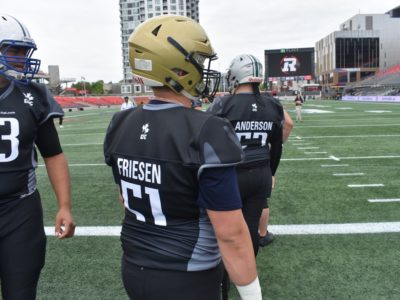 CFC100 OL Friesen commanding the front lines