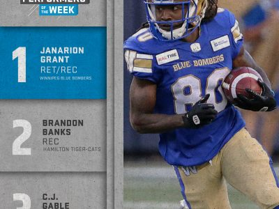 Shaw CFL top performers (9): Grant, Banks, Gable named