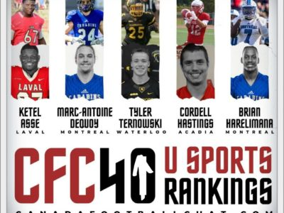 CFC40 U Sports Rankings Midseason Update (Stats)
