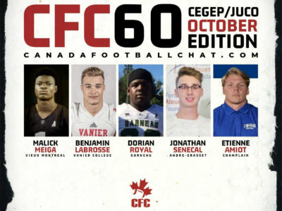 CFC60 October 2019 Cegep/JUCO player RANKINGS
