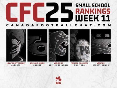 CFC25 2019 Small School RANKINGS (11):  Upsets see a new top 5, plus 3 new teams ranked