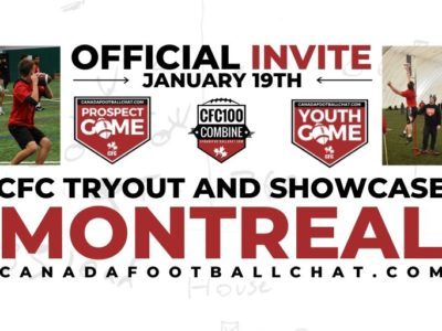 Top 5 Combine Scores: CFC Tryout and Showcase MONTREAL