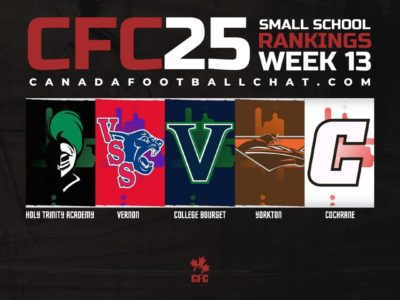 CFC25 2019 Small School RANKINGS (13): AB, NS crown provincial champs