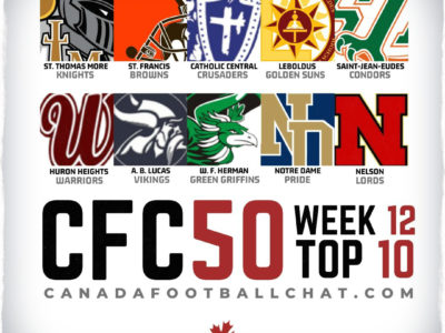 CFC50 2019 High School RANKINGS (12): More upsets in BC, champions crowned in QC, MB, plus major matchups to come