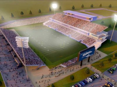 ARCHITECTURE 49 AND ELLISDON—Schooners Sports and Entertainment stadium concept for their proposed CFL stadium build in Halifax, N.S.
