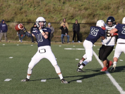 Holy Names CFC150 QB Guenette leading by example