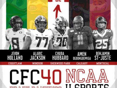 CFC40 NCAA/U Sports 2021 DRAFT RANKINGS 1st Edition