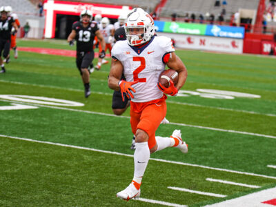 Illinois Fighting Illini running back Chase Brown (2)  Illinois Fighting Illini Football at Nebraska - 11/21/20