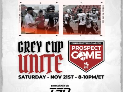 CFC Prospect Game to be featured on TSN special GREY CUP UNITE