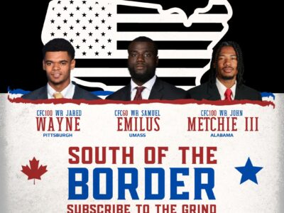 South of the Border: CFC100 WRs Metchie III, Wayne and Emilus flying Air Canada