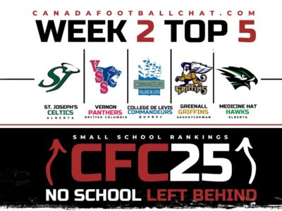 CFC25 Small School RANKINGS (WEEK 2): Early changes with a new top 5 program