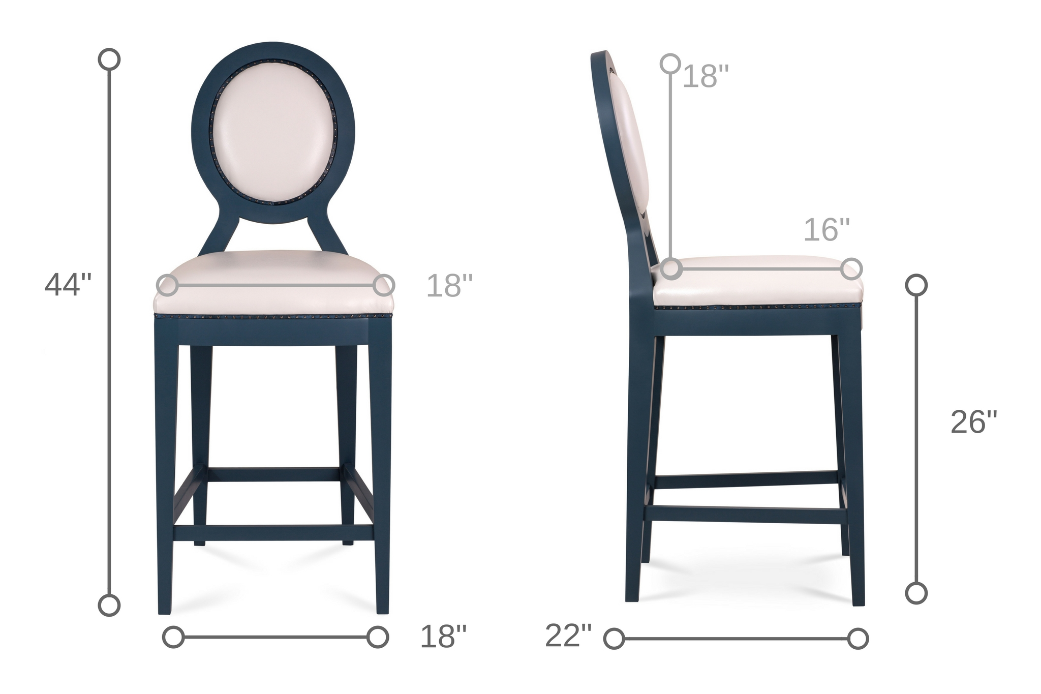 Dowel Furniture Bastille Counter Stool Dimensions