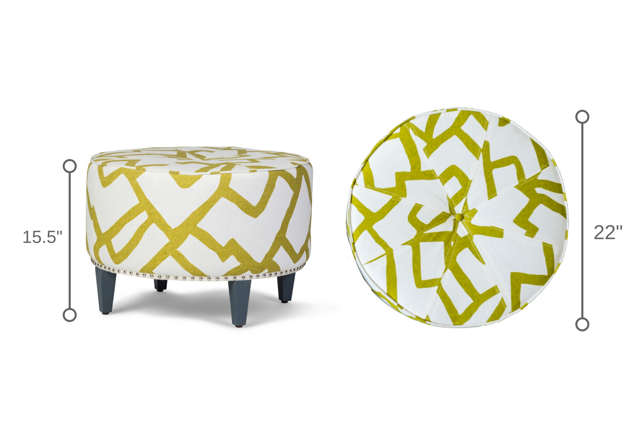 Dowel Furniture Casablanca Ottoman Dimensions