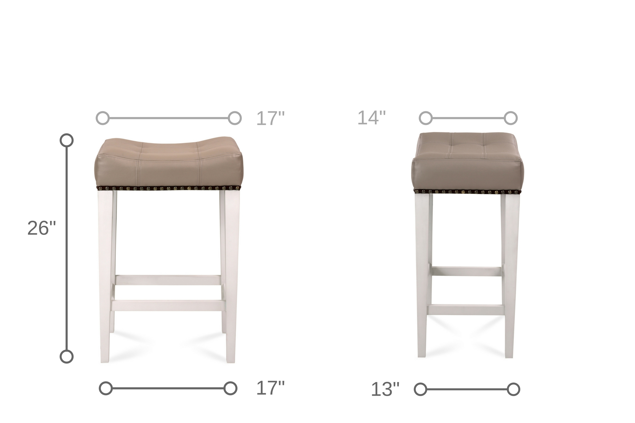 Dowel Furniture Cocktail Counter Stool Dimensions