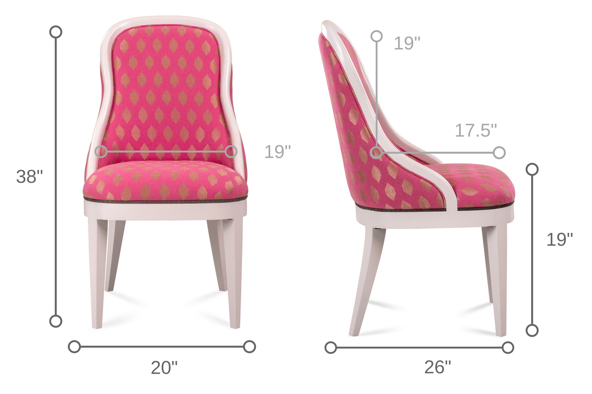 Dowel Furniture Frenchie Side Chair Dimensions