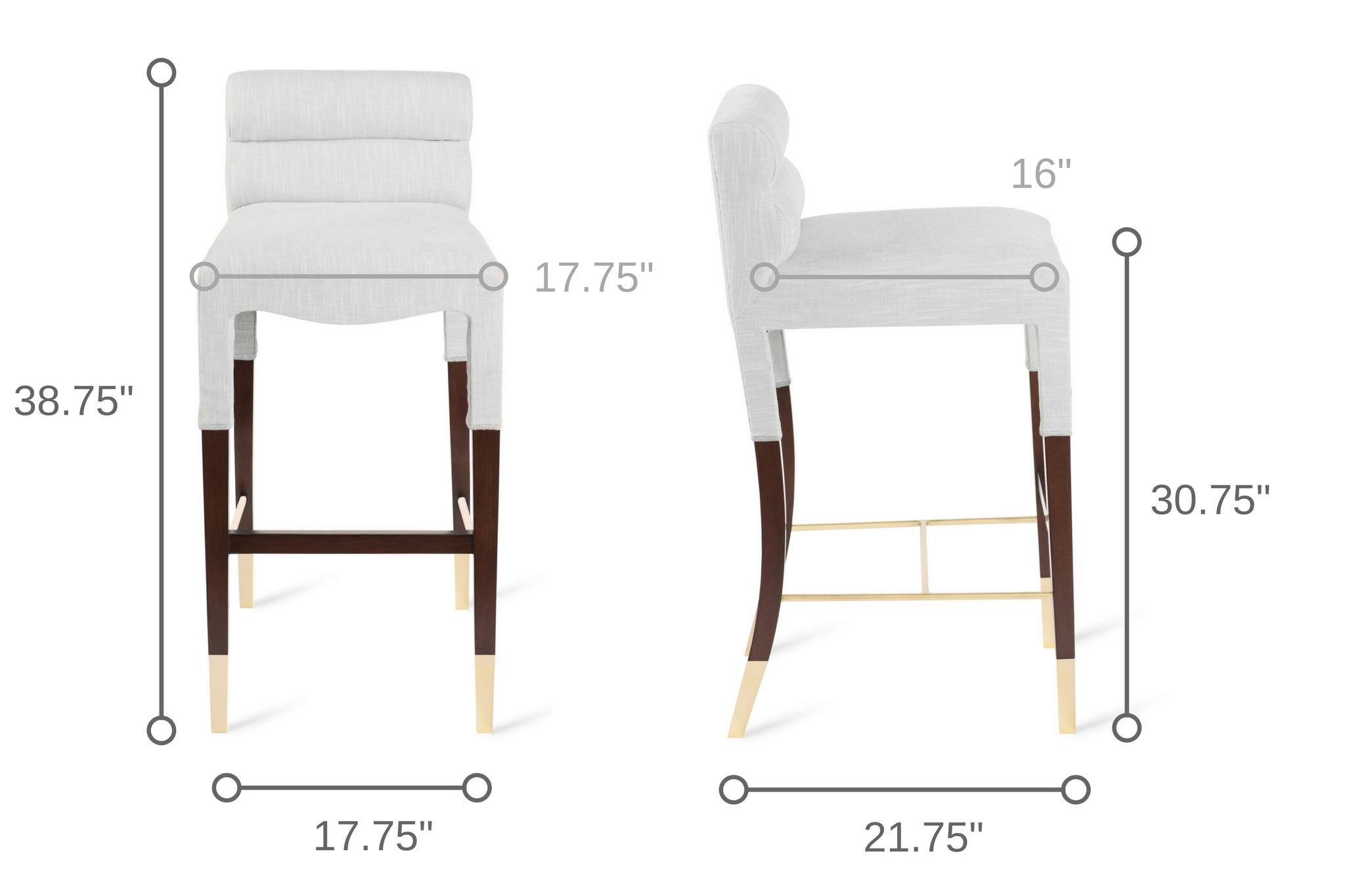 Dowel Furniture Gardner Bar Stool Dimensions