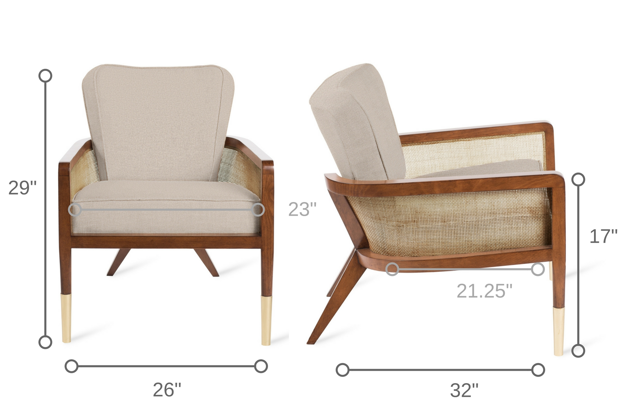 Dowel Furniture Grant Lounge Chair Dimensions