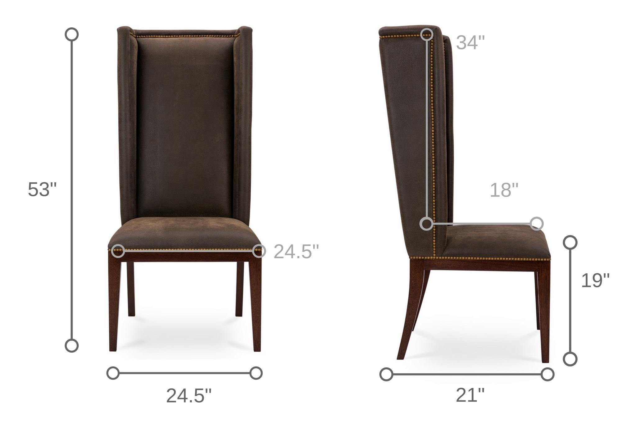 Dowel Furniture Maria Host Chair Dimensions