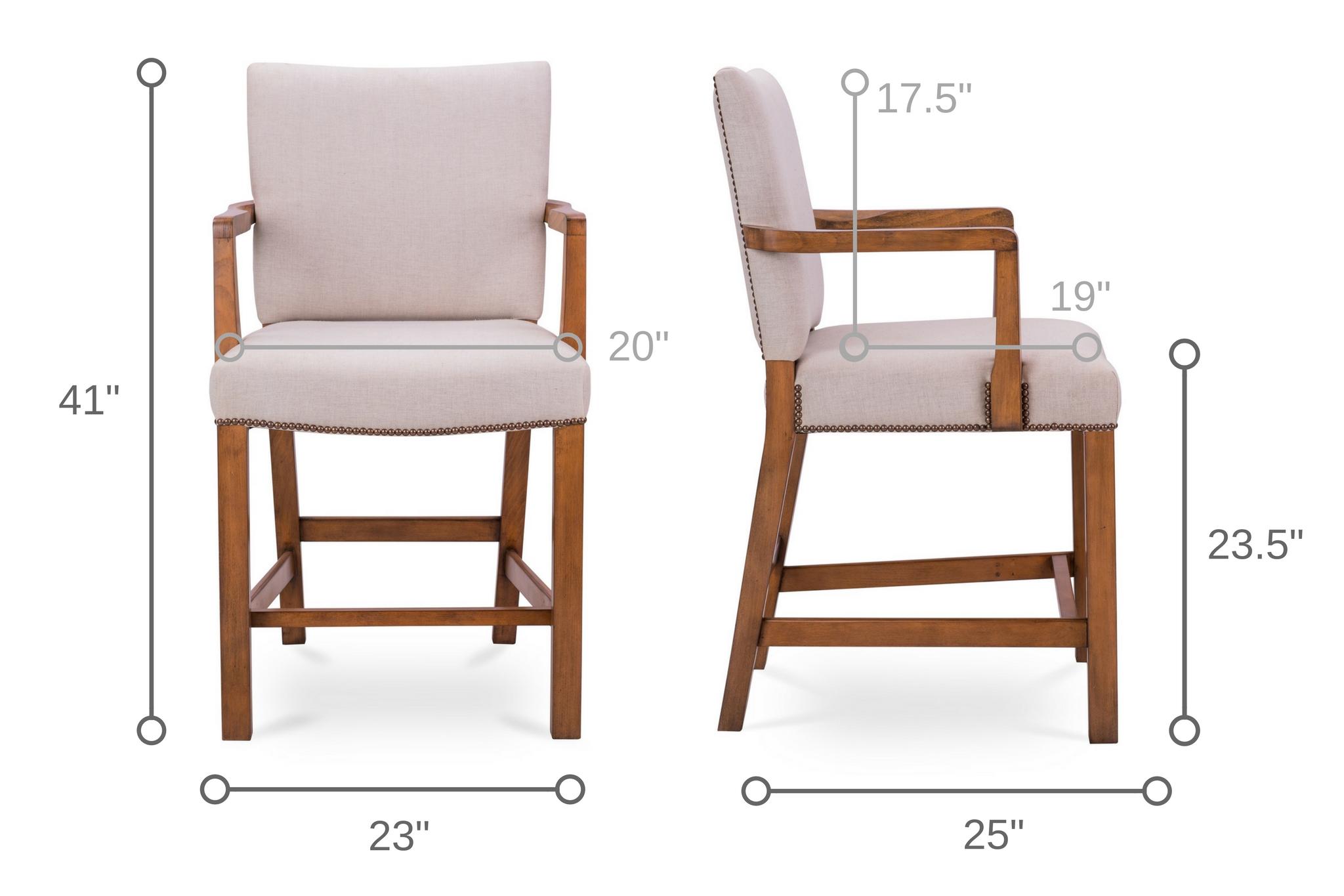 dowel furniture robert upholstered counter stool dimensions