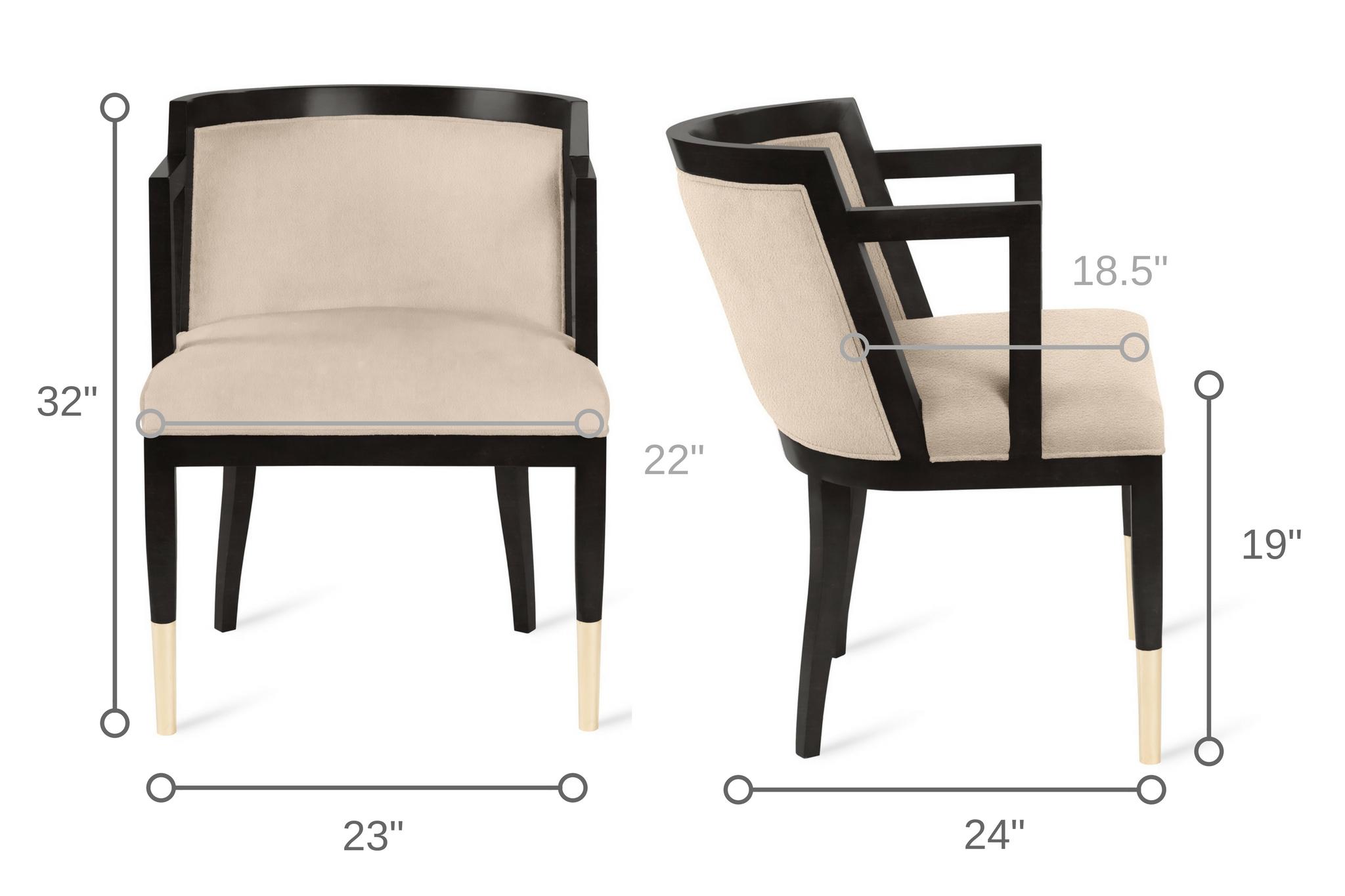 Dowel Furniture Steinbeck Arm Chair Dimensions