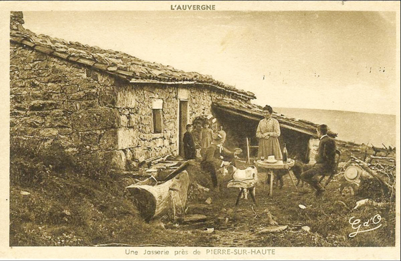 Women working on the high pastures making cheese