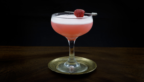 raspberry syrup cocktail photo