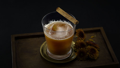 pumpkin butter cocktail photo