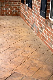 stamped concrete patios Houston