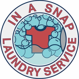 In A Snap Laundry Service Logo