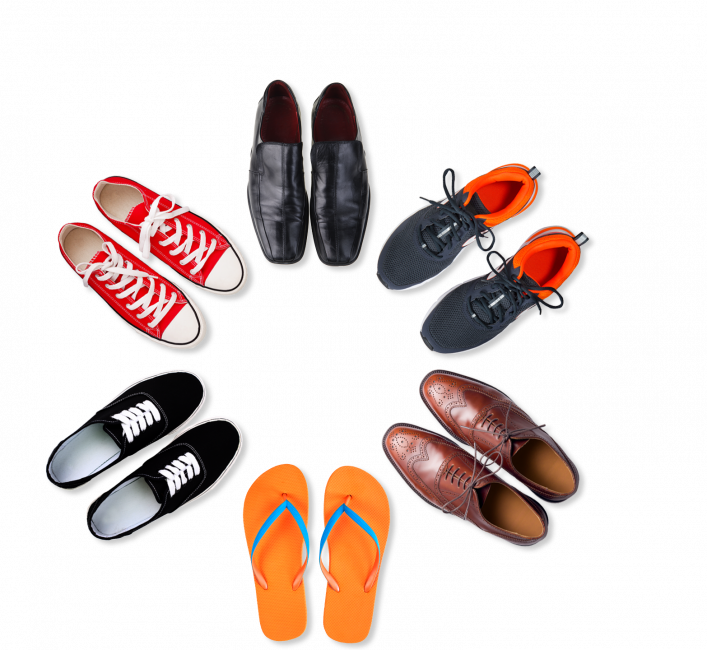 Shoes in a circle