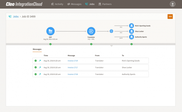 Cleo Integration Cloud - End-to-end data flows integration and orchestration