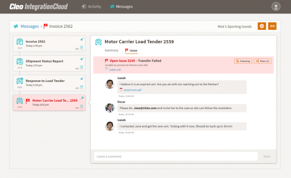 Cleo Integration Cloud - Stay Compliant, Manage SLAs, Error Resolution