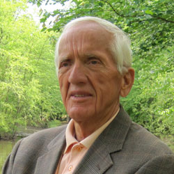 Dr. T. Colin Campbell portrait near a lake