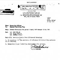 Operation beaver Cage - Command Chronology