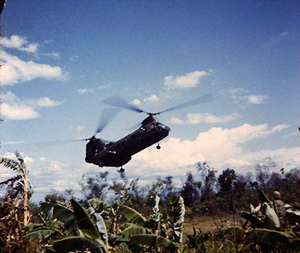CH46 Landing