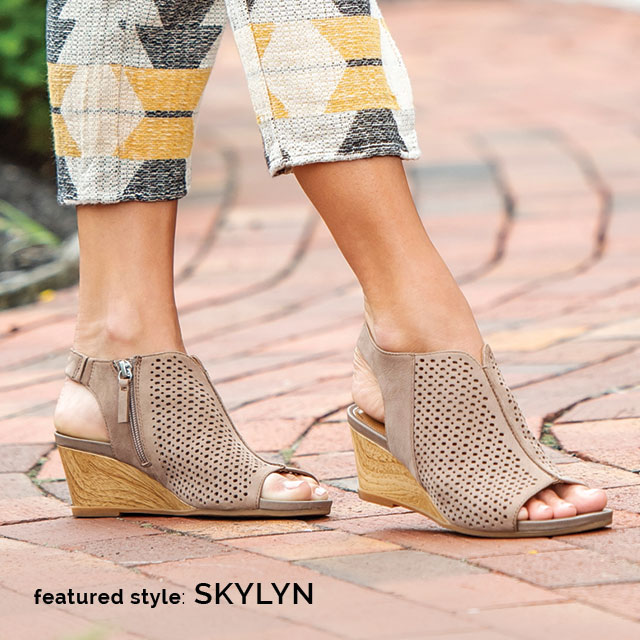 Featured style: Skylyn, shown in grey leather