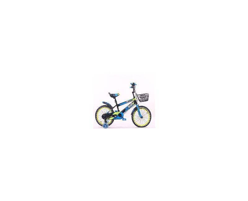 """16"""" blue with yellow bike bicycle"""