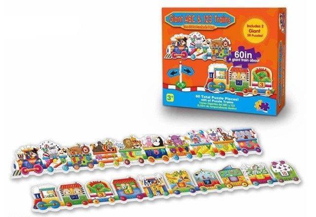 Giant ABC & 123 Trains (Puzzles)