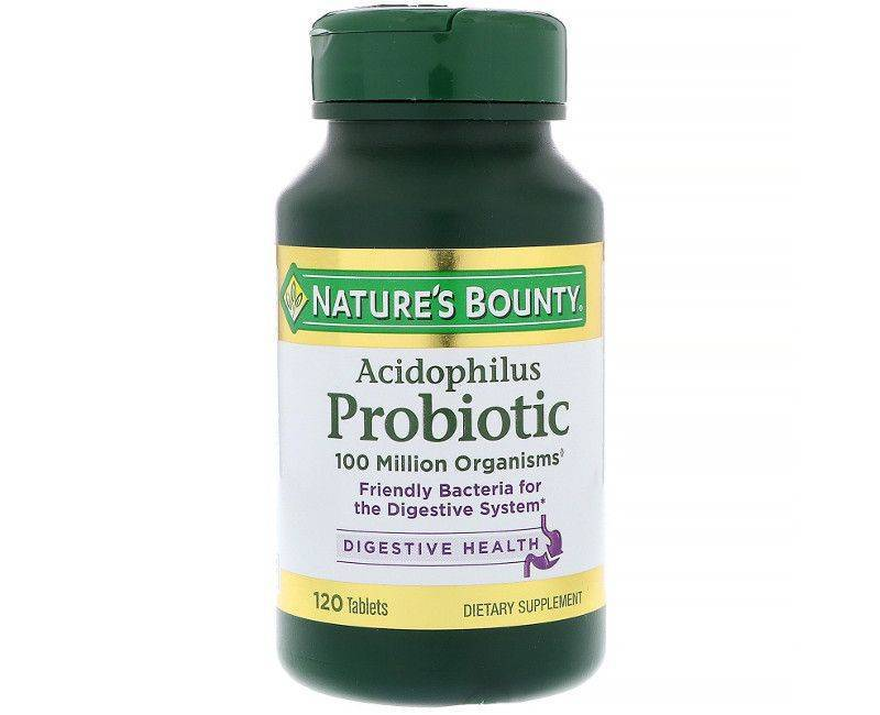 Nature's Bounty Acidophilus Probiotic - Digestive Health - 120 Tablets