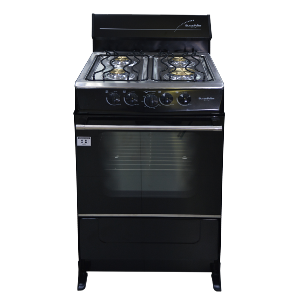 BlackPoint 20-Inch Black Steel Gas Stove front view