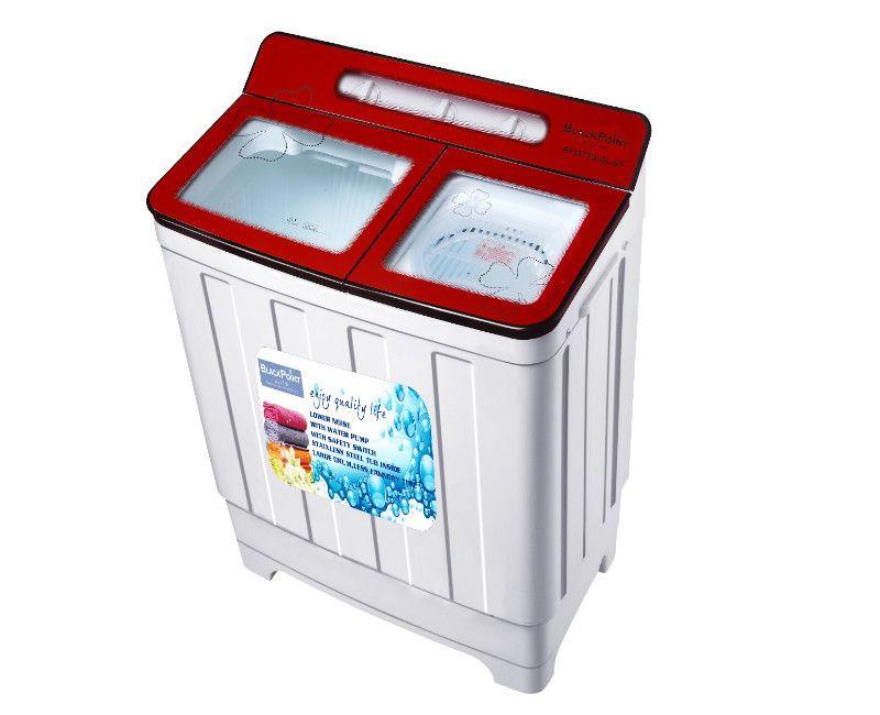 Blackpoint 15 KG Twin Tub Steel Drum Glass Top Washing Machine