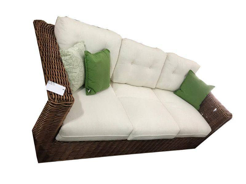 Calpe Three Piece Set One Three Seater Sofa And Two Rattan Armchairs