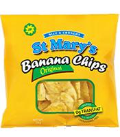 St Mary Banana Chips 30 Grams 20 Pack