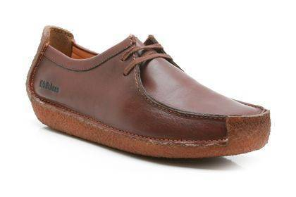 Clarks Natalie Chestnut leather Moccasins for Men-8