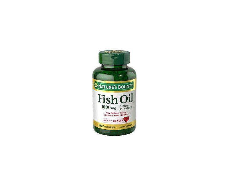 Nature's Bounty Fish Oil 1000mg With 300mg Omega 3 - 120 Soft Gels For Heart Health