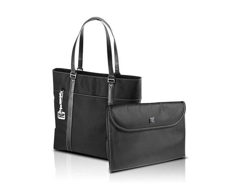 "KlipX Verona Handbag in Black up to 15.4"" (KNB-460BK)"
