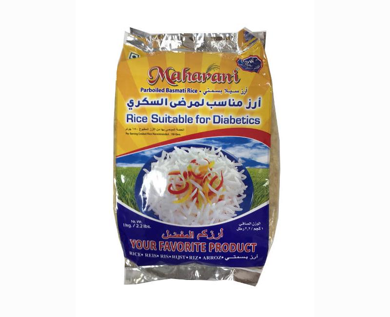 Maharani Parboiled Basmati Rice - Suitable For Diabetics 1Kg.