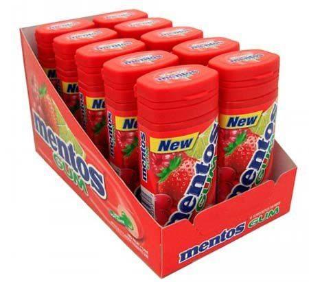 Mentos Fresh Mint Gum 10 Packs
