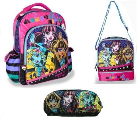 Monster High 3pc Backpack Set (Rock N' Skull)