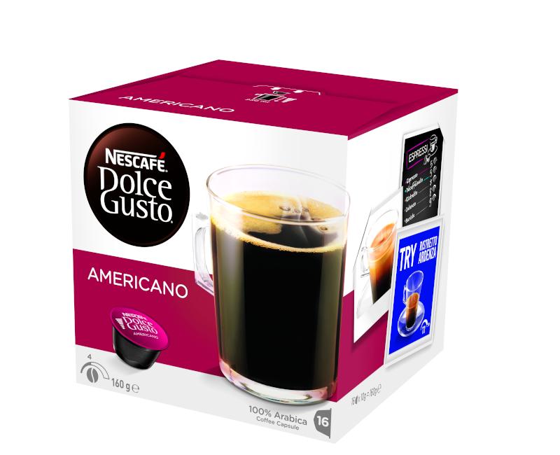 NESCAFÉ Dolce Gusto Americano Coffee 16 Capsules Per Box